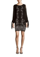 Max Studio Roundneck Long-Sleeve Dress