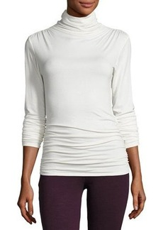 Max Studio Ruched-Seam Jersey Top