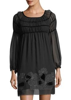 Max Studio Ruffle Chiffon Dress