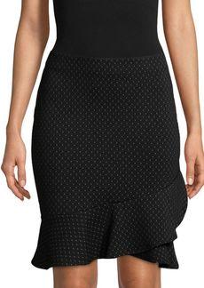 Max Studio Ruffle-Trim Mini Skirt