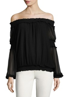 Max Studio Ruffled Off-the-Shoulder Blouse