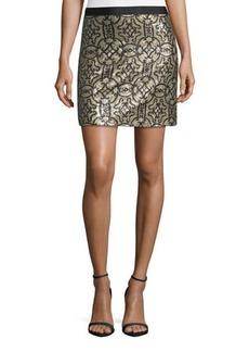 Max Studio Sequin-Pattern Pencil Skirt