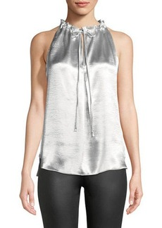 Max Studio Sleeveless Charmeuse Blouse