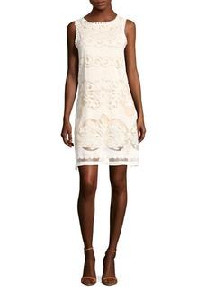 Max Studio Sleeveless Cotton-Blend Lace Dress