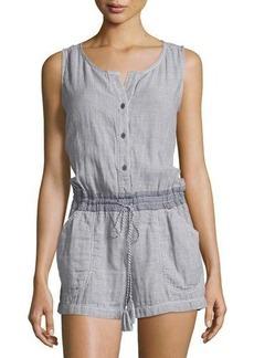 Max Studio Sleeveless Cotton Short Jumpsuit