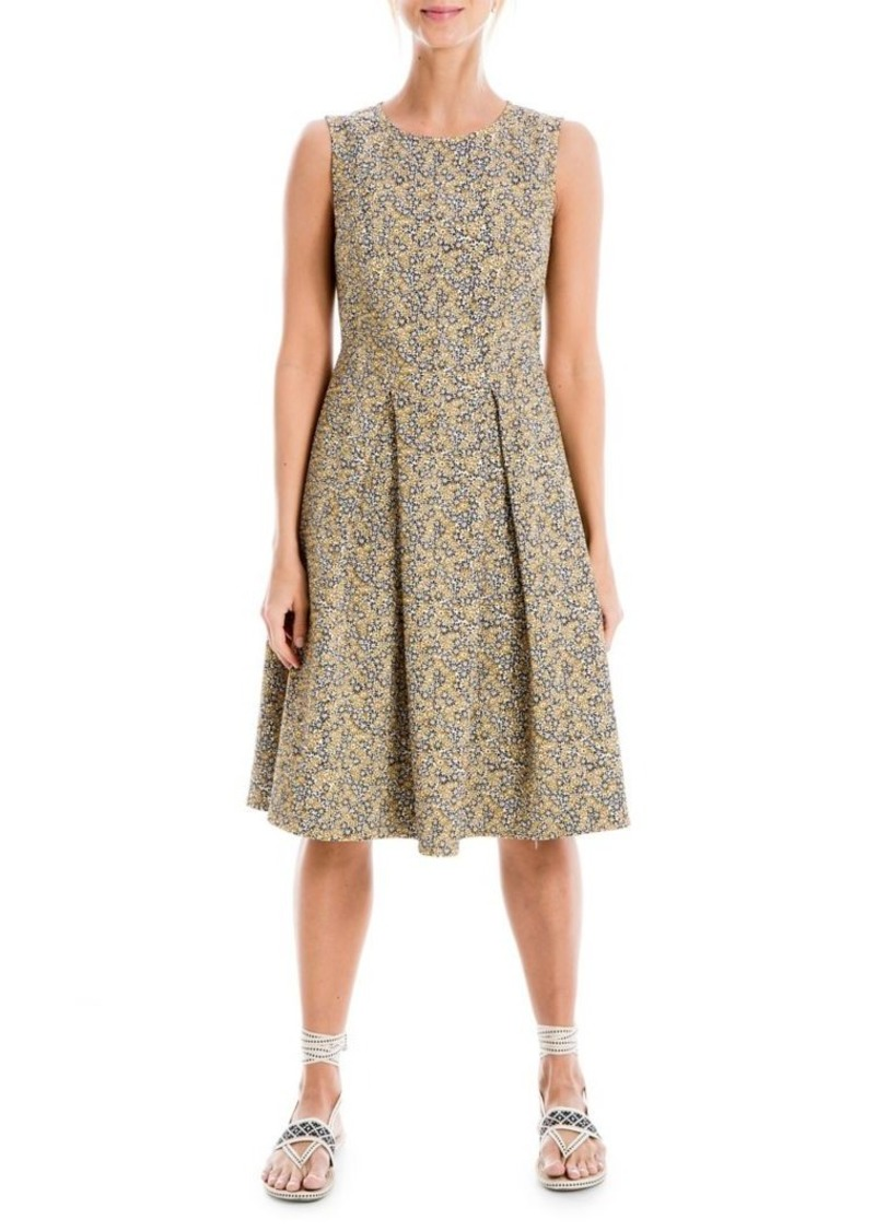 Max Studio Sleeveless Jacquard Fit-&-Flare Dress