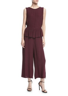Max Studio Sleeveless Peplum Jumpsuit