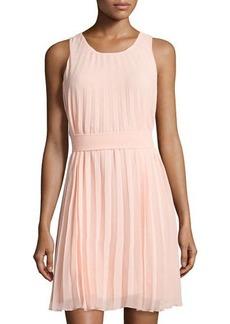 Max Studio Sleeveless Pleated Dress