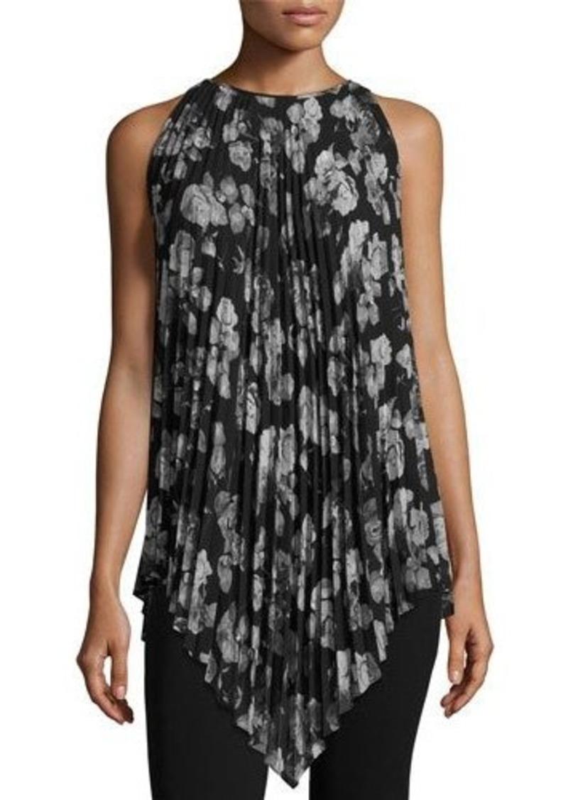 3b35bc5a43c SALE! Max Studio Max Studio Sleeveless Pleated Floral-Print Chiffon ...