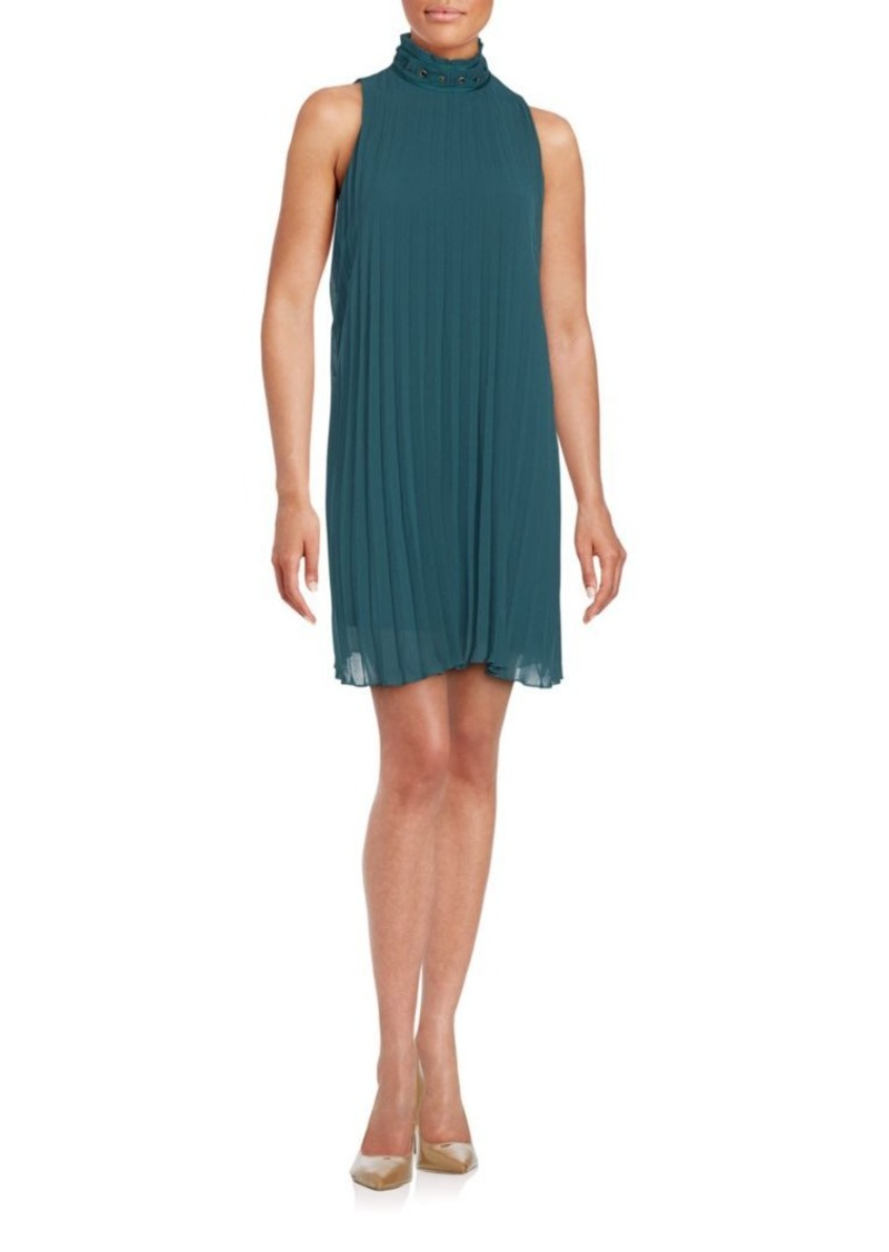 Max Studio Sleeveless Pleated Shift Dress