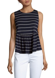 Max Studio Sleeveless Ruffle Top
