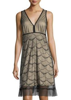 Max Studio Sleeveless Scalloped Lace Dress