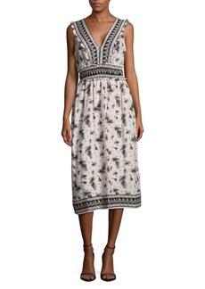 Max Studio Sleeveless V-Neck Dress