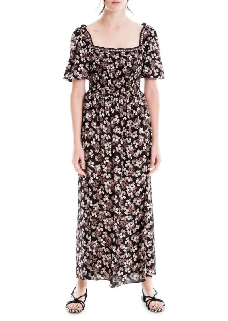 Max Studio Smocked Maxi Dress