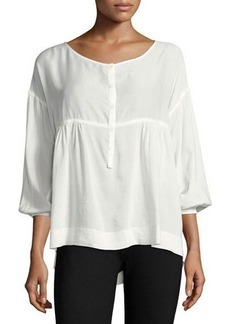 Max Studio Solid Shirting Blouse
