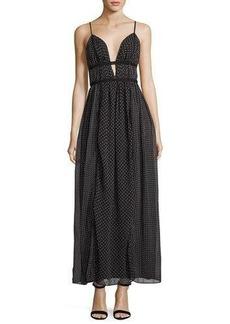 Max Studio Star-Print Georgette Maxi Dress