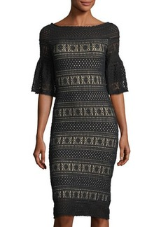 Max Studio Stretch-Lace Off-the-Shoulder Dress