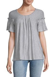 Stripe Flare Sleeve Top