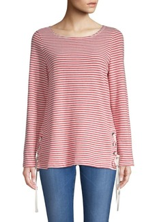 Stripe Lace-Up Top