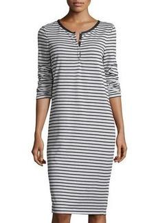 Max Studio Striped Long-Sleeve Dress