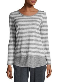 Max Studio Striped Long-Sleeve Top