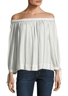 Max Studio Striped Off-the-Shoulder Blouse