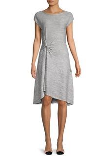 Max Studio Striped Twist-Front Dress