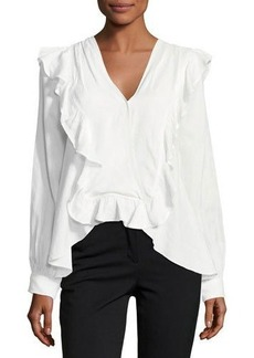 Max Studio Surplice Ruffle-Trim Blouse