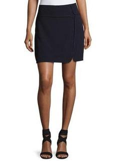 Max Studio Textured Double-Cloth Skirt