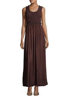 Max Studio Textured Georgette & Velvet Combo Dress