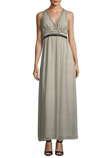Max Studio Textured Georgette Maxi Dress