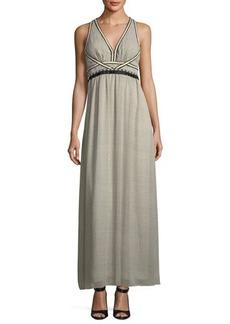 Max Studio Textured Georgette Maxi Dress