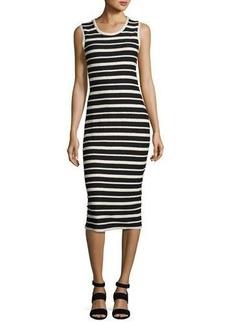 Max Studio Textured Striped Sheath Dress