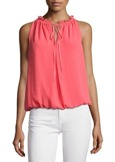Max Studio Tie-Neck Sleeveless Blouse
