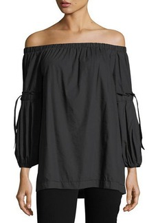 Max Studio Tie-Sleeve Off-the-Shoulder Blouse