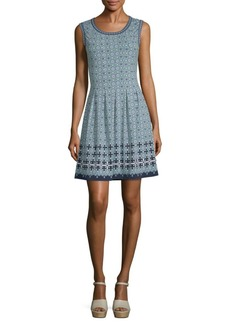 Max Studio Tile Print Fit-and-Flare Dress