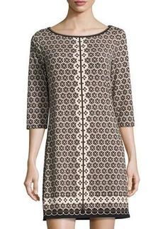 Max Studio Tile-Print Jersey Dress