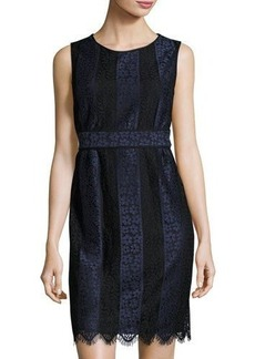 Max Studio Two-Tone Lace Sheath Dress