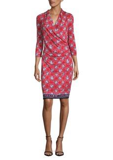 Max Studio V-Neck Print Dress