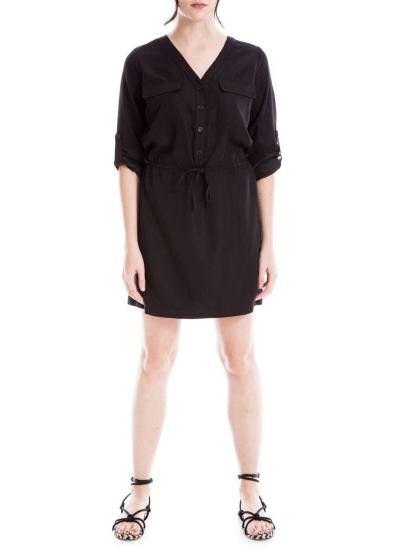 Max Studio V-Neck Utility Dress