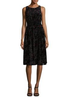Max Studio Velvet Knee-Length Dress