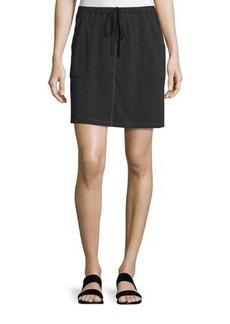 Max Studio Drawstring Waist Mini Skirt