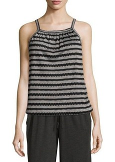 Max Studio Sleeveless Novelty-Knit Top