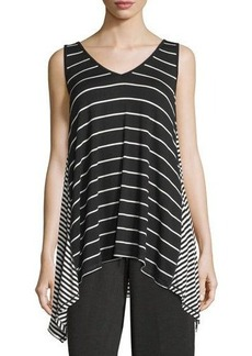 Max Studio Sleeveless Striped Swing Top