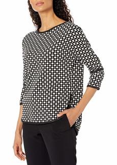 Max Studio Women's 3/4 Sleeve Jacquard Knit Top