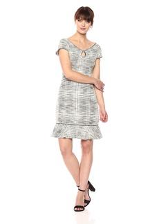Max Studio Women's Cap Sleeve Kit Tweed Dress  S