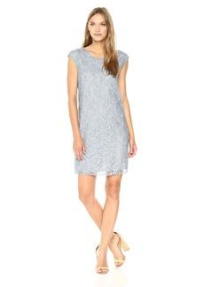 Max Studio Women's Cap Sleeve Short Lace Dress