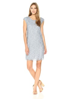 MAXSTUDIO Max Studio Women's Cap Sleeve Short Lace Dress