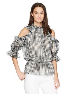 Max Studio Women's Cold Shoulder Blouse  XS