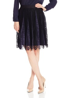 Max Studio Women's Color Block Lace Skirt